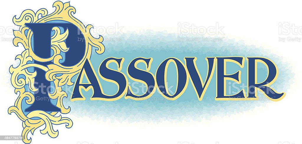 Passover Heading C royalty-free stock vector art