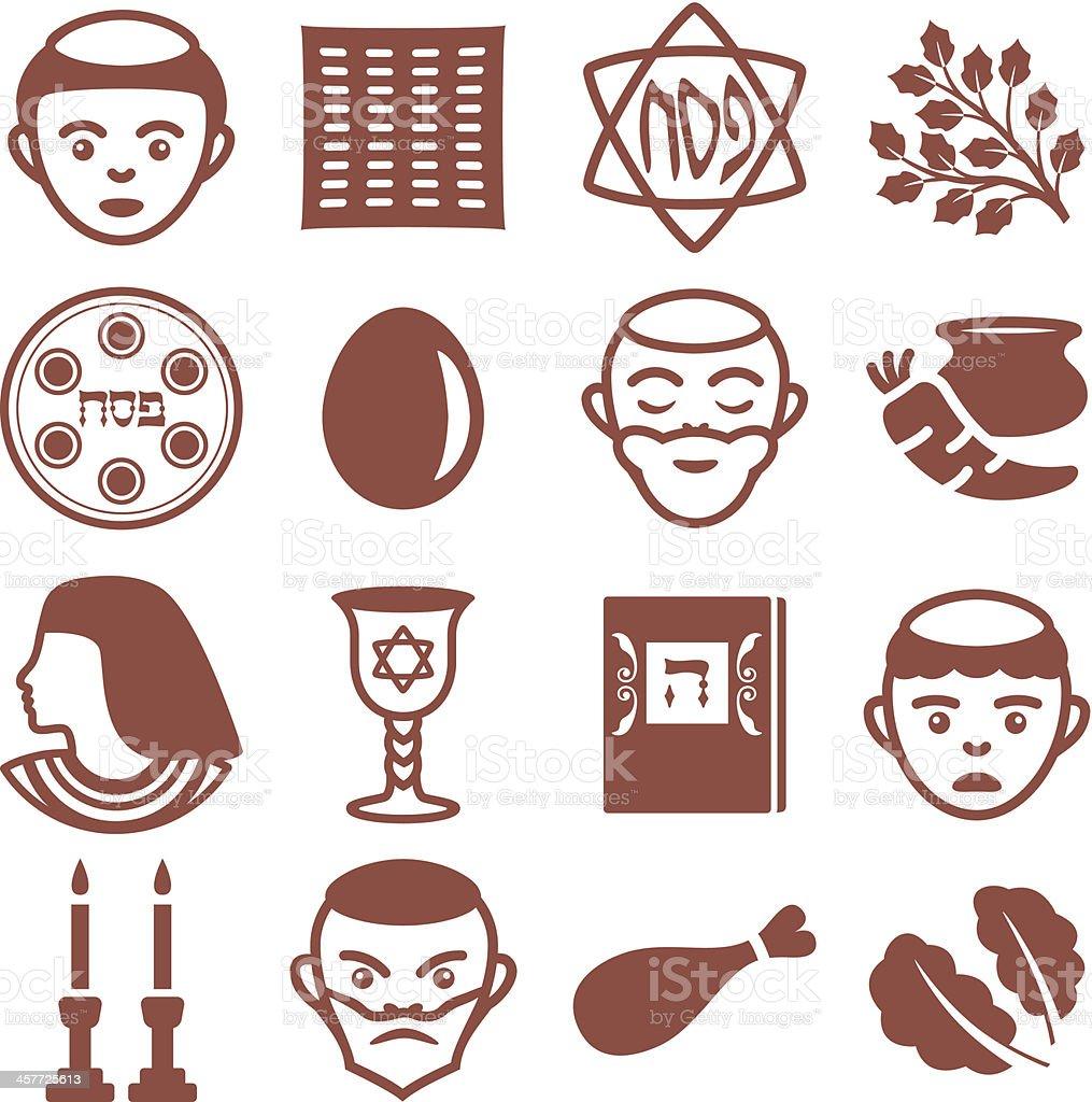 Passover - Icons Set vector art illustration
