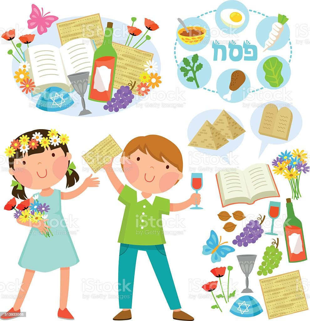 Passover illustrations vector art illustration