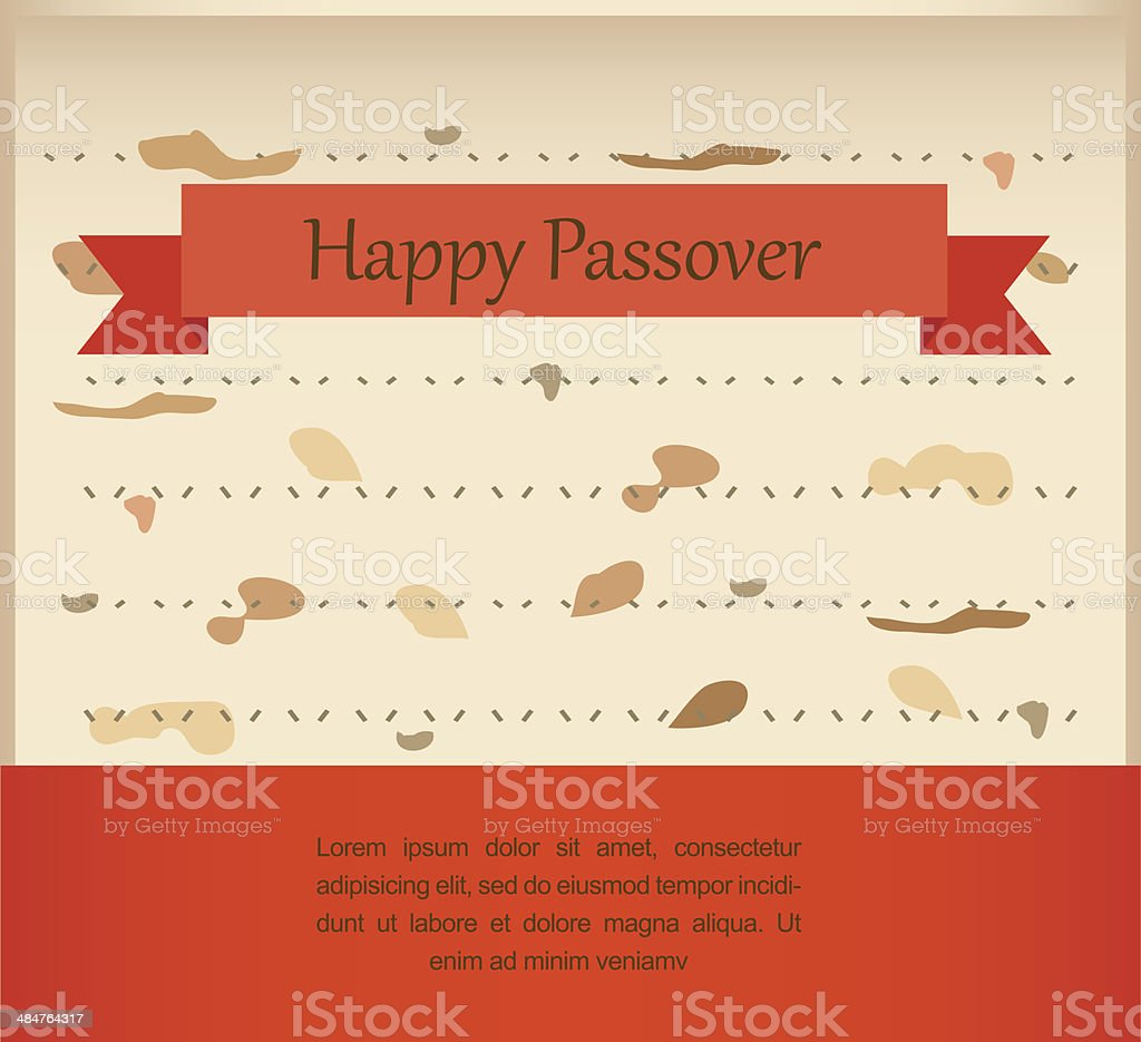 passover invitation on matzoh background royalty-free stock vector art