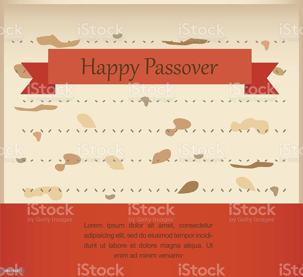 passover invitation on matzoh background vector art illustration