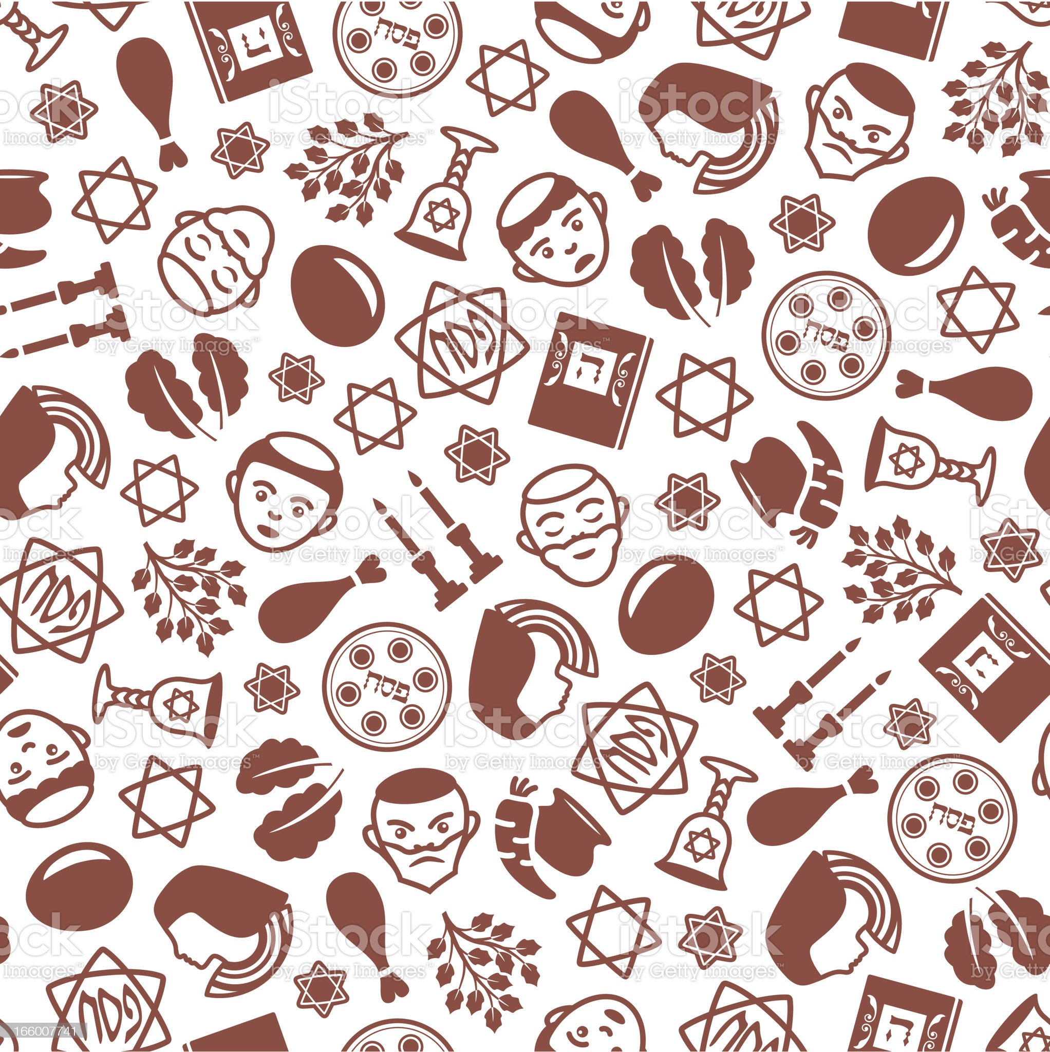 Passover - One Color Seamless Pattern royalty-free stock vector art