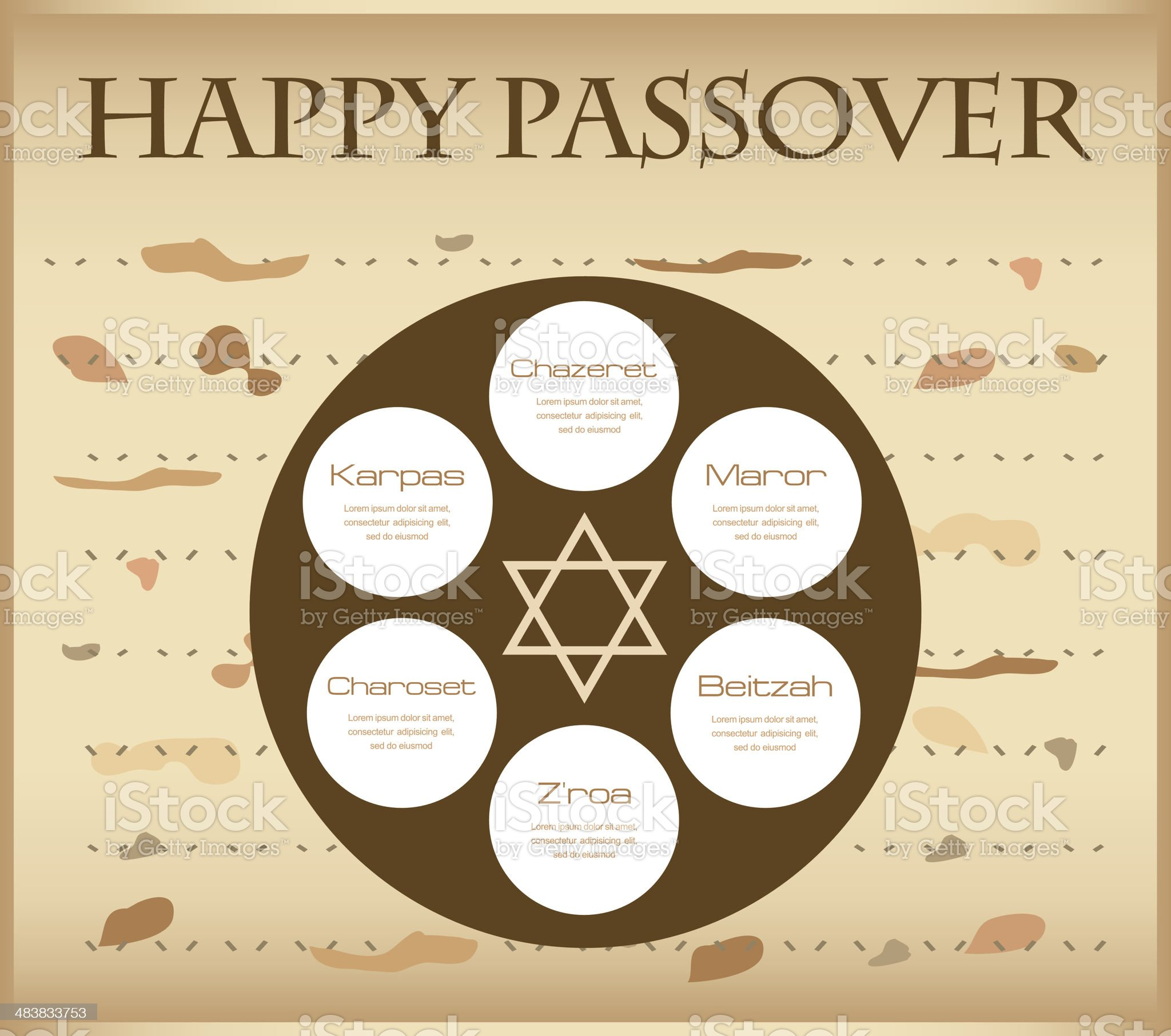 passover plate infographics royalty-free stock vector art