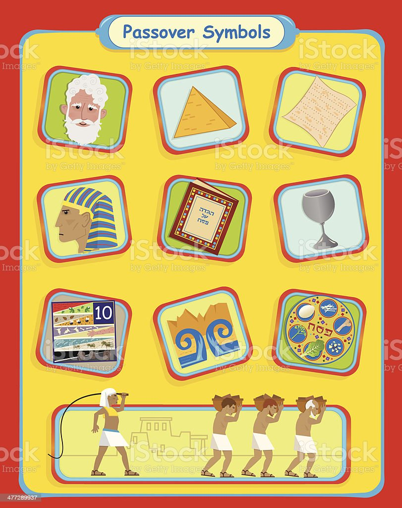 Passover Symbols royalty-free stock vector art