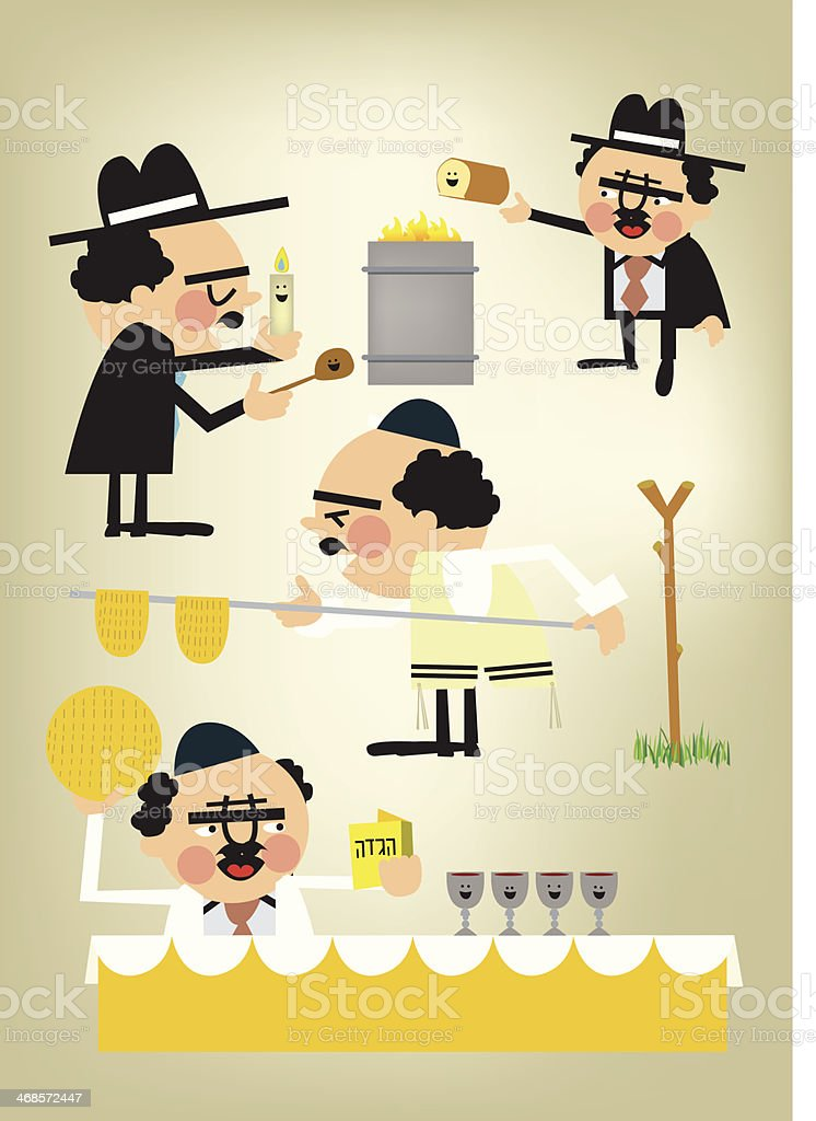Passover vector art illustration