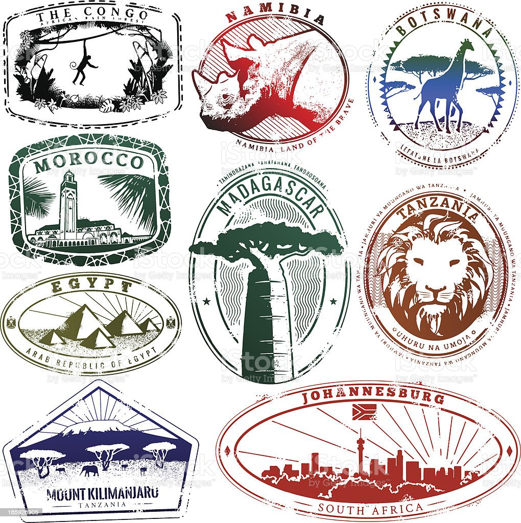 Passport AFRICA vector art illustration