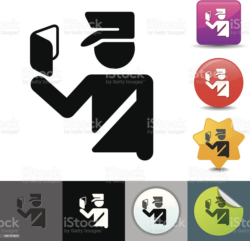 Passport control icon | solicosi series vector art illustration