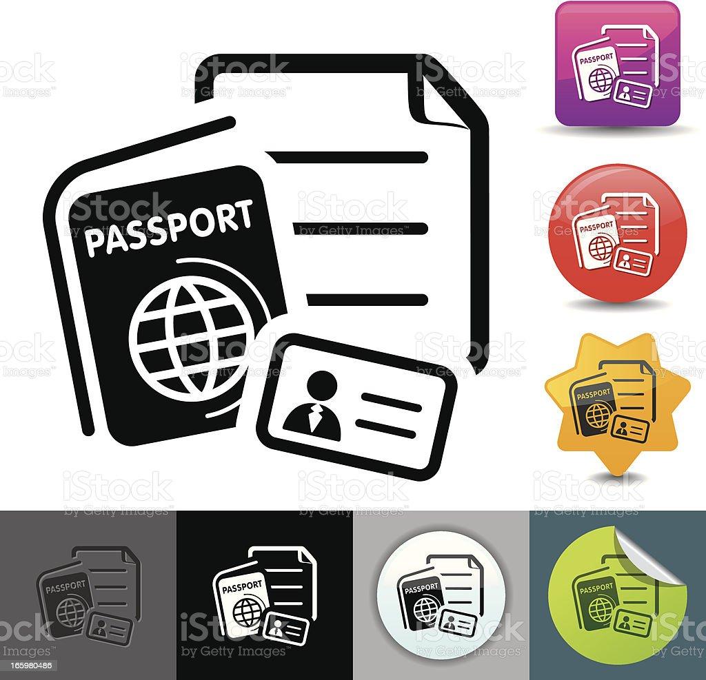 Passport documents icon | solicosi series royalty-free stock vector art
