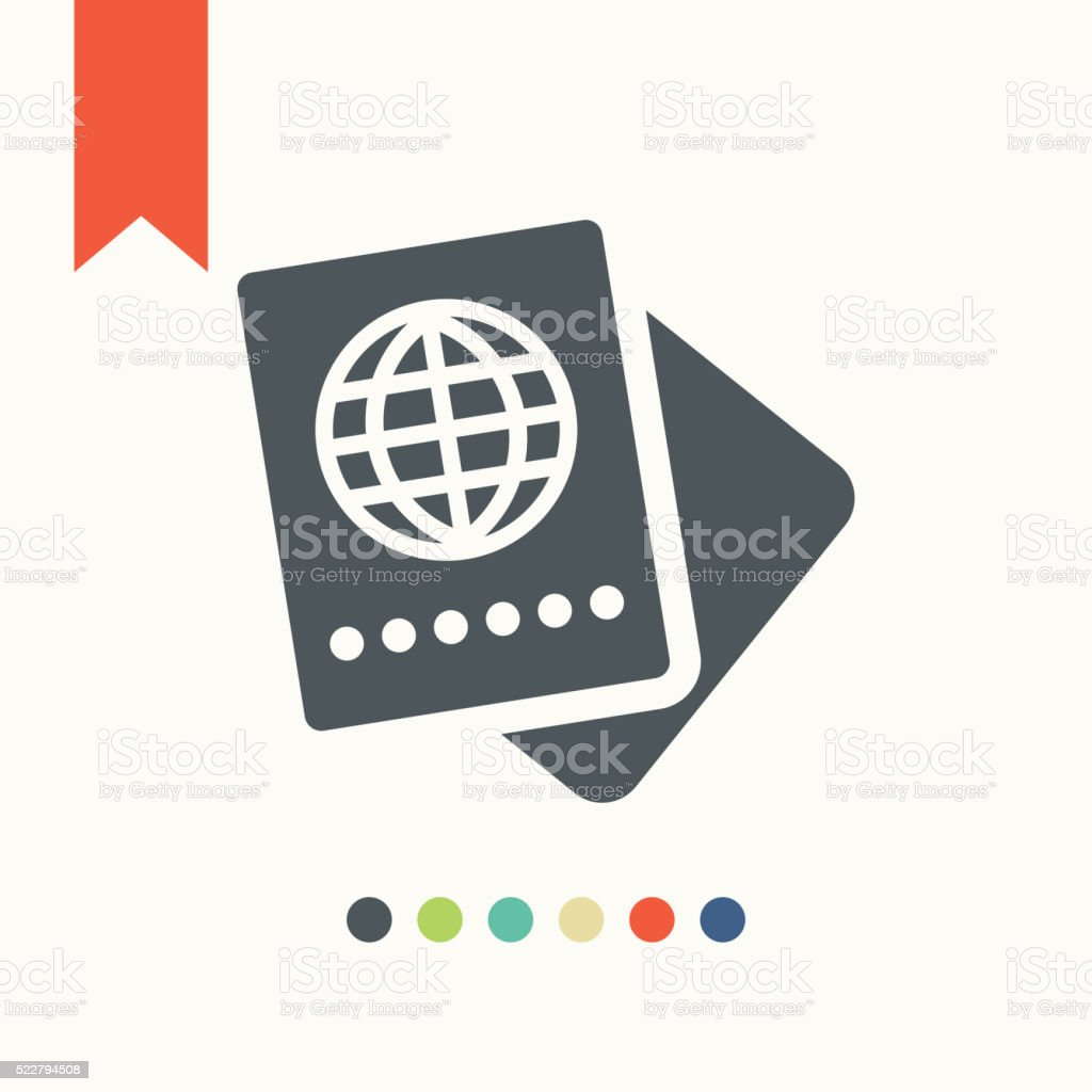 Passport icon vector art illustration