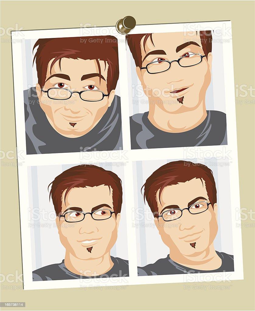 Passport Photos vector art illustration