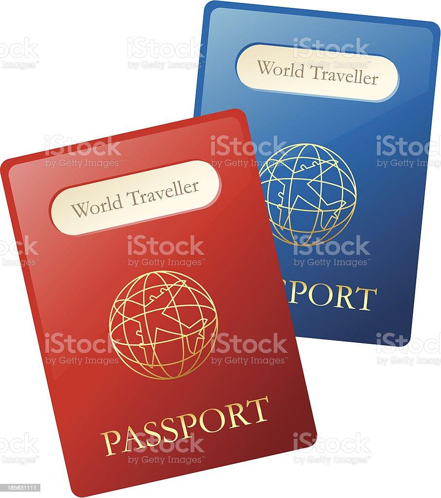 Passport royalty-free stock vector art