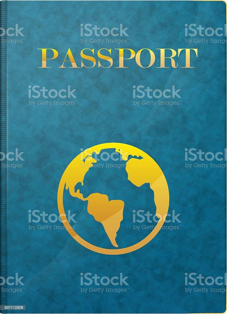 passport vector art illustration