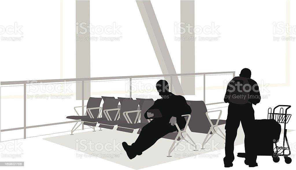 Passtime Time Vector Silhouette vector art illustration