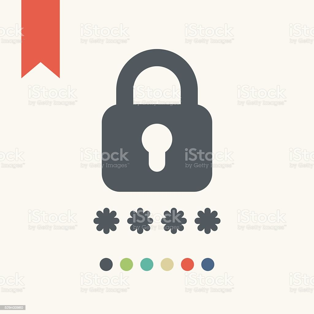 Password protected icon vector art illustration