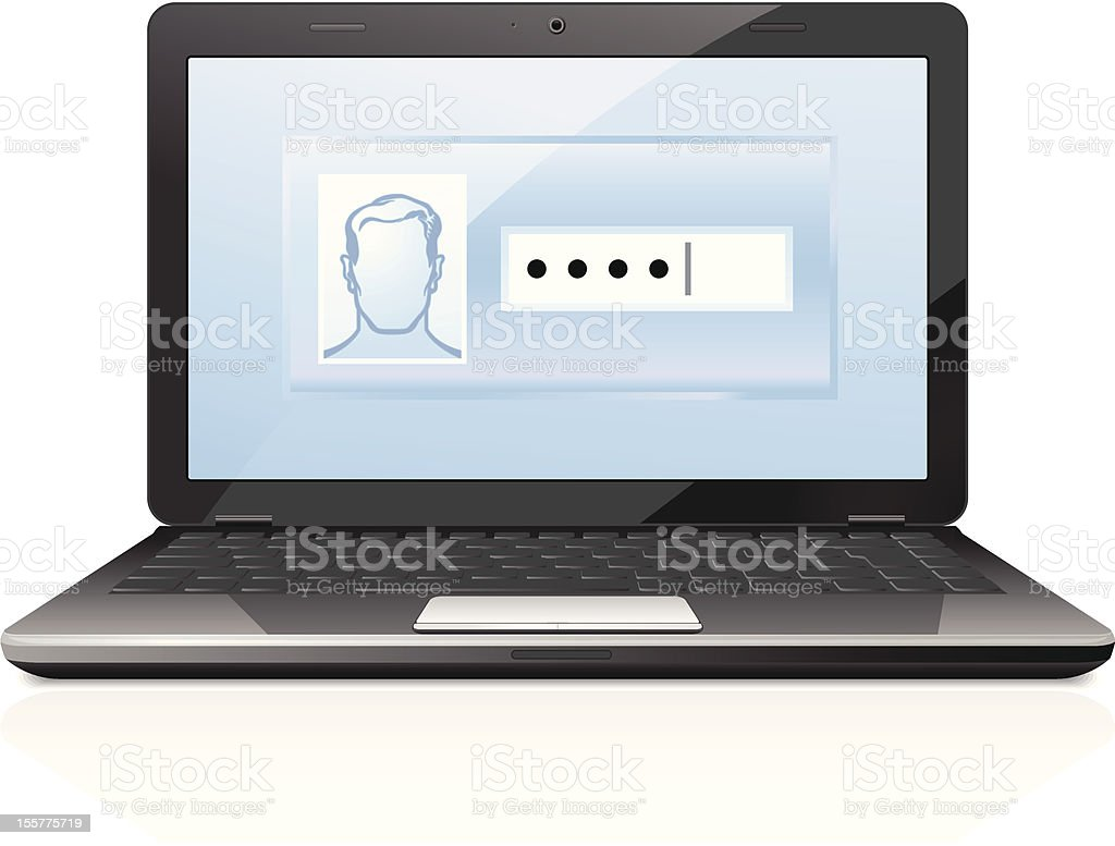 Password protected royalty-free stock vector art