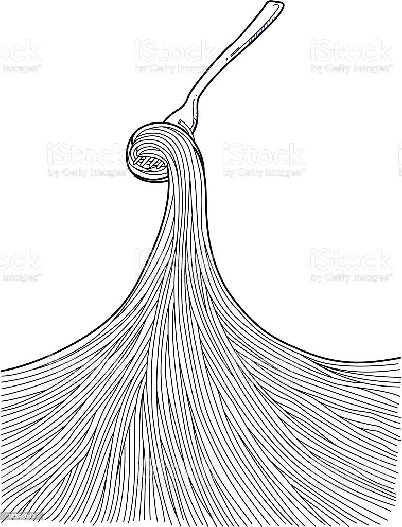 Pasta Doodles vector art illustration