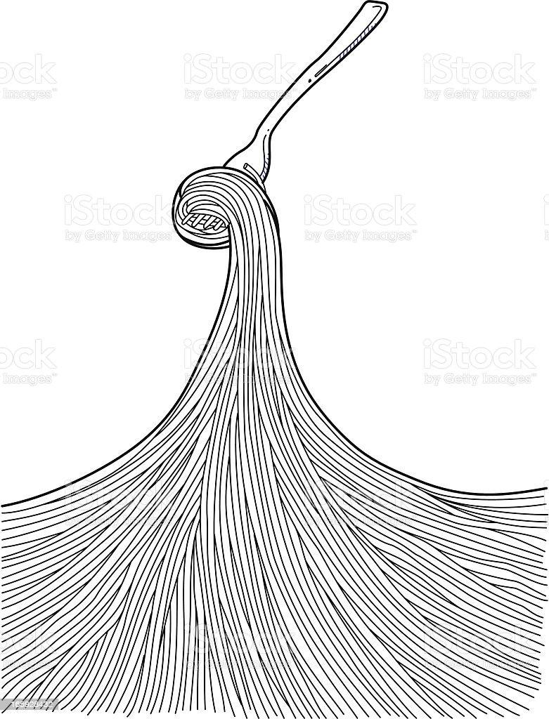 Pasta Doodles vector art illustration