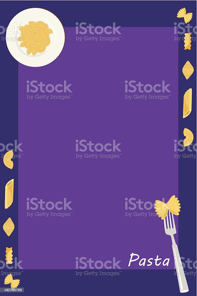 pasta on a border royalty-free stock vector art