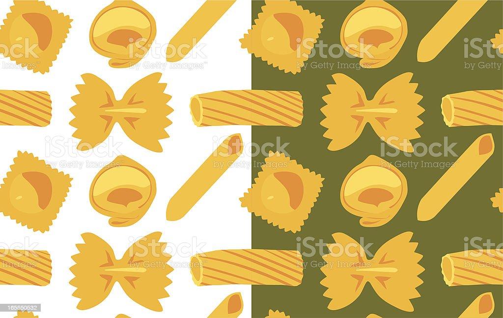 Pasta seamless pattern royalty-free stock vector art