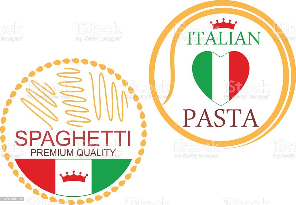 Pasta vector art illustration