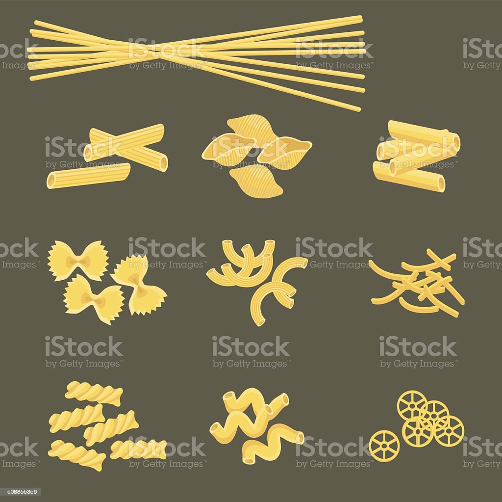 Pasta vector art illustration