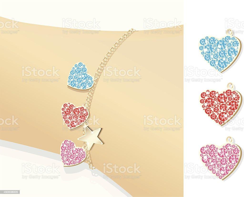 Paste gem heartclingers. royalty-free stock vector art