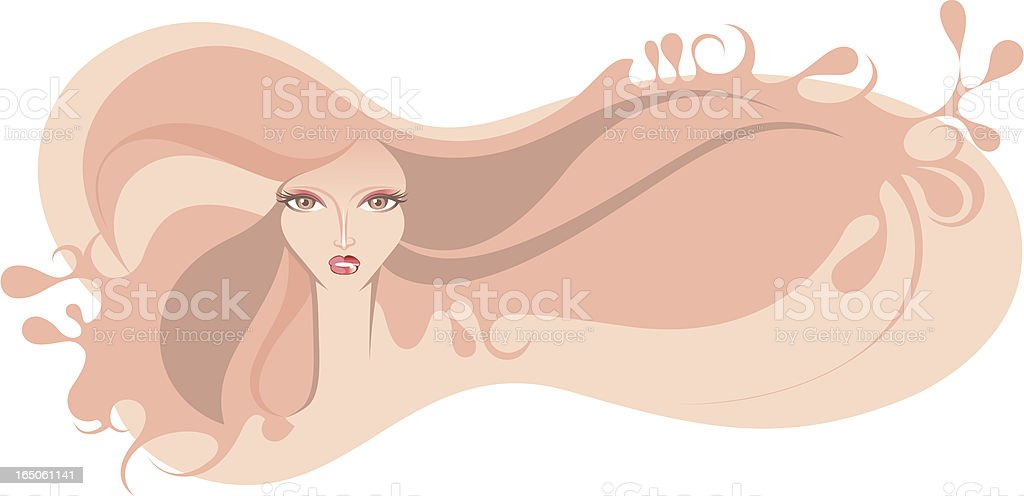 Pastel beauty. royalty-free stock vector art