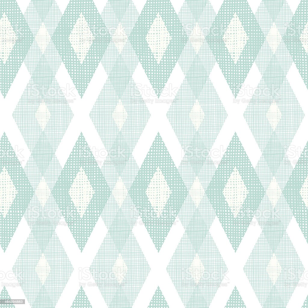 Pastel blue fabric ikat diamond seamless pattern background royalty-free stock vector art