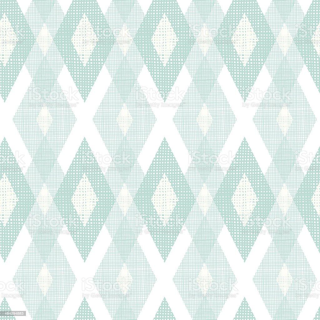 Pastel blue fabric ikat diamond seamless pattern background vector art illustration
