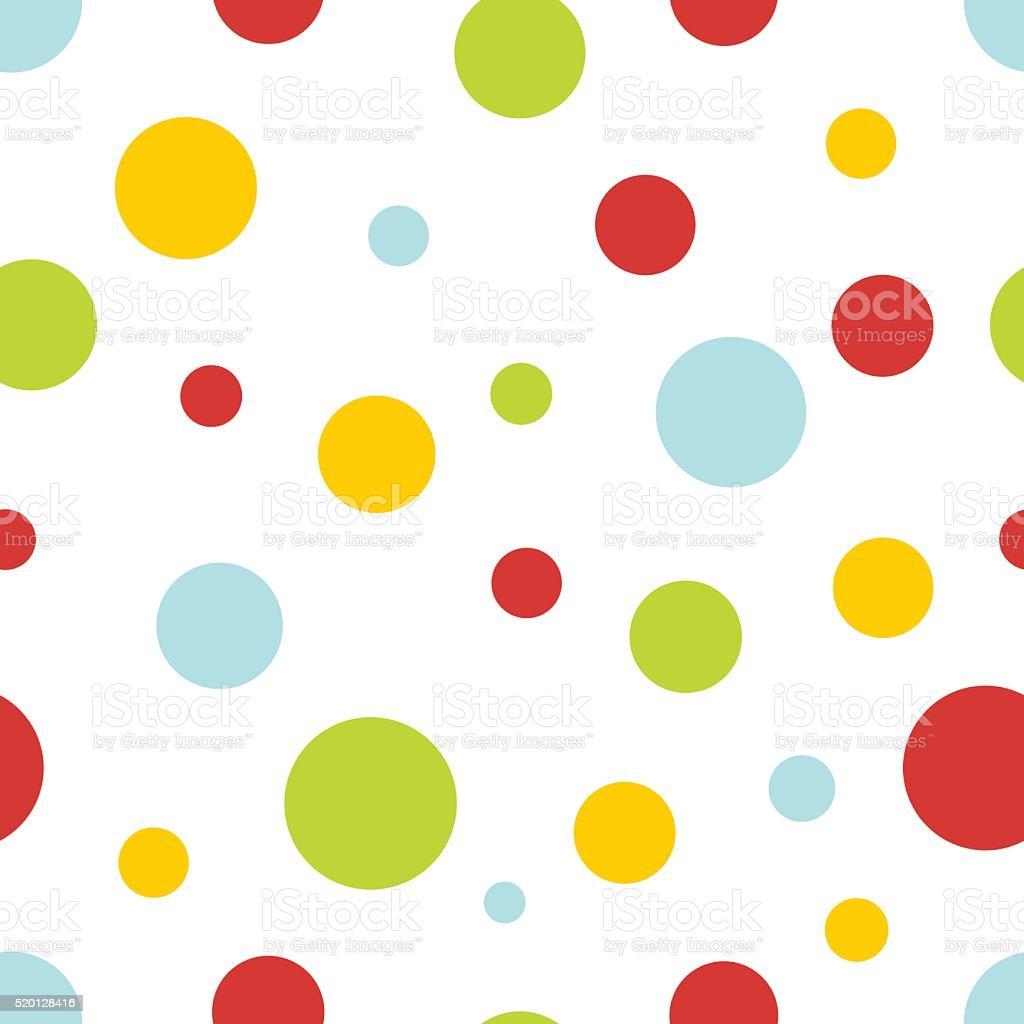 pastel circles seamless background vector art illustration