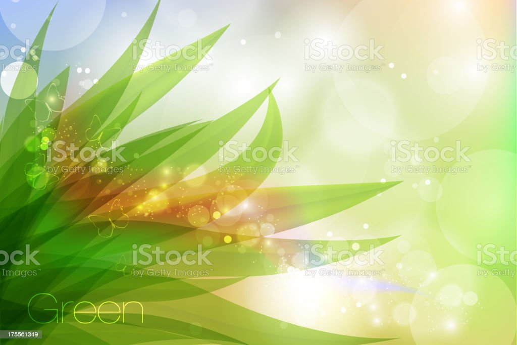 pastel colors with grass vector art illustration