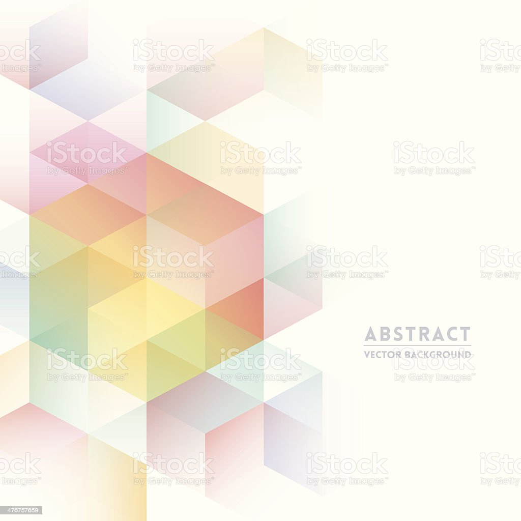 Pastel isometric shapes for abstract background vector art illustration
