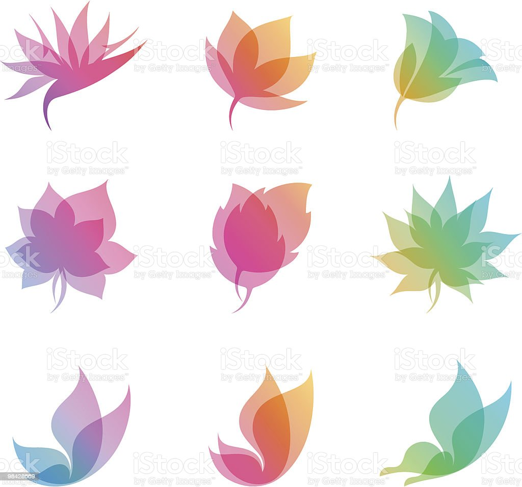Pastel nature. Elements for design. vector art illustration