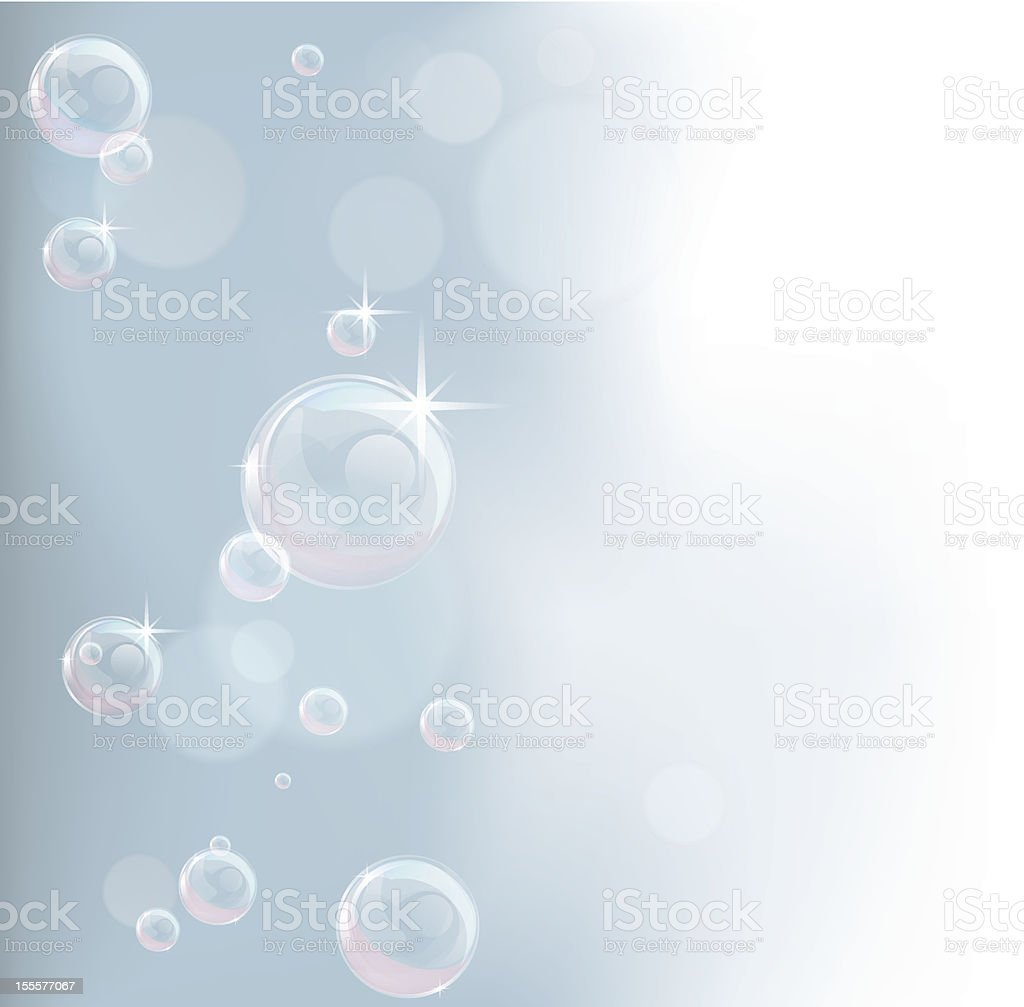 Pastel tones bubble background vector art illustration