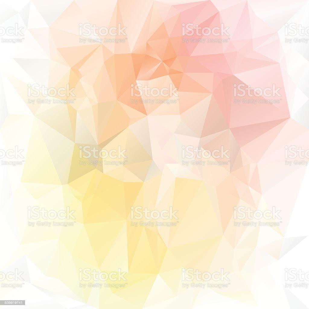 pastel yellow orange pink polygonal triangular pattern