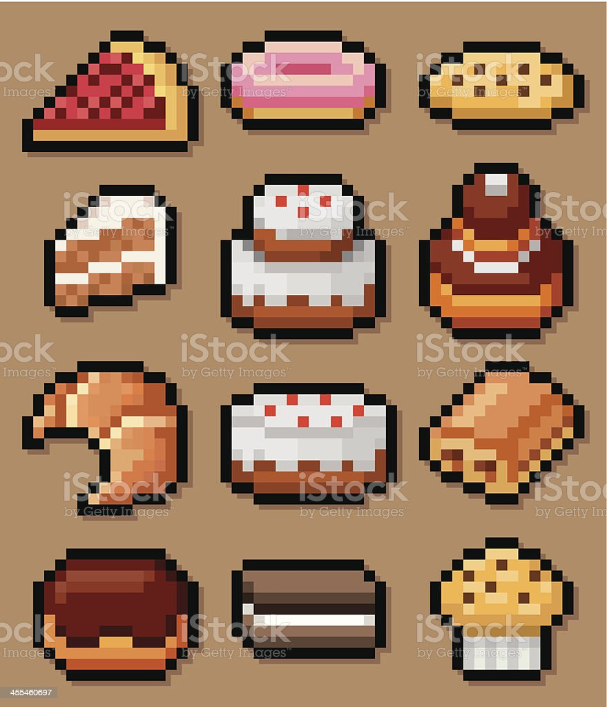 Pastries & Cakes vector art illustration