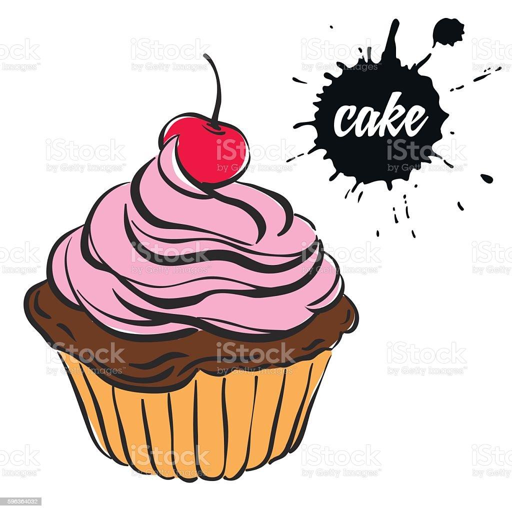 pastries sweets cupcake stock vecteur libres de droits libre de droits
