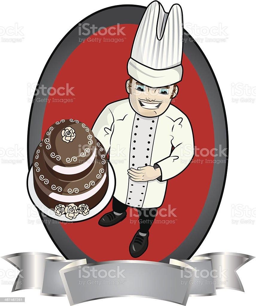 Pastry chef royalty-free stock vector art