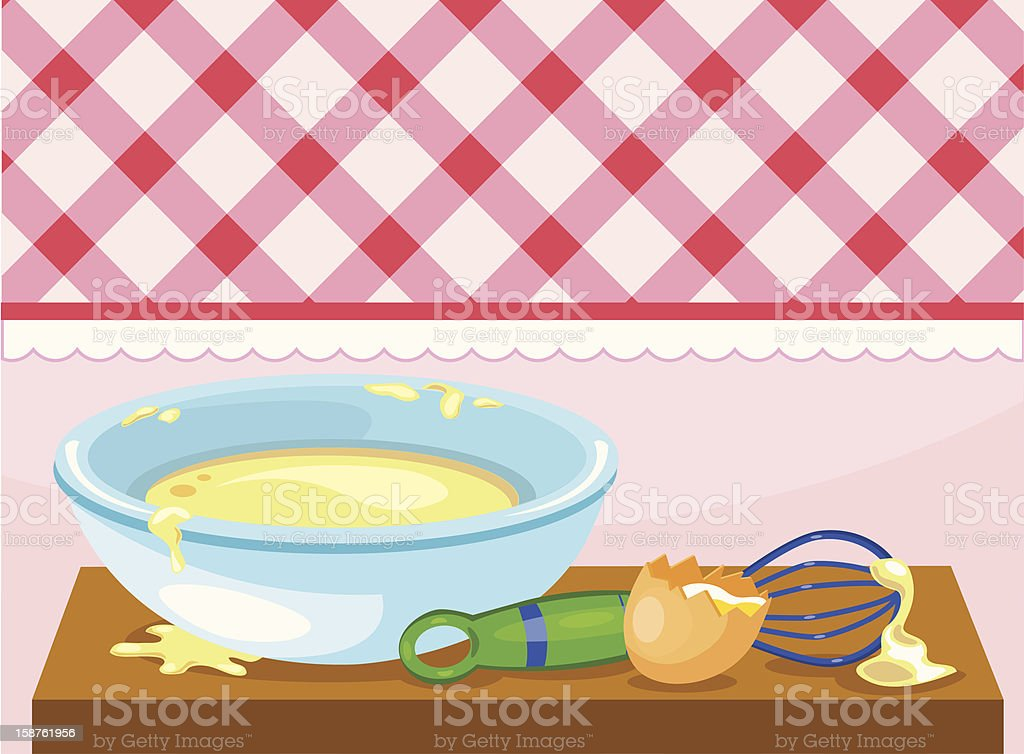 pastry making royalty-free stock vector art