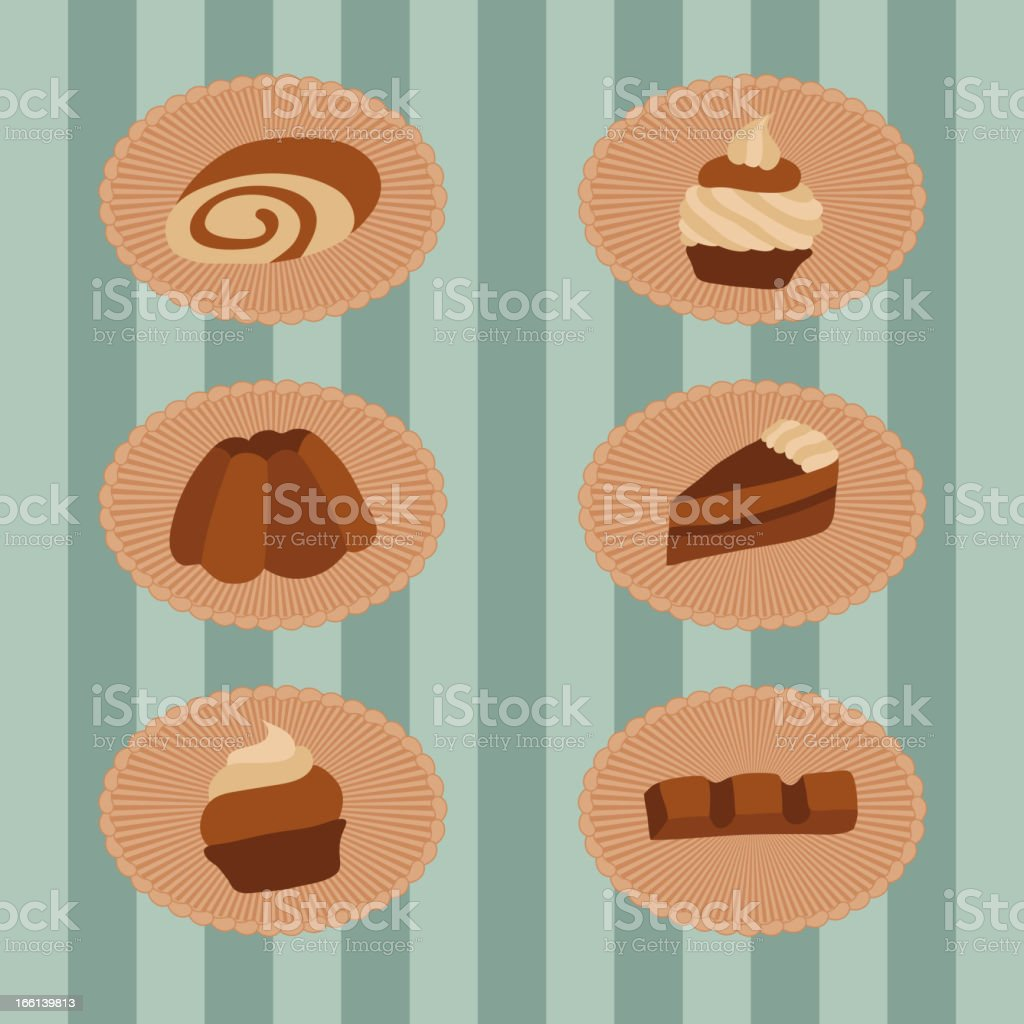 Pastry set royalty-free stock vector art