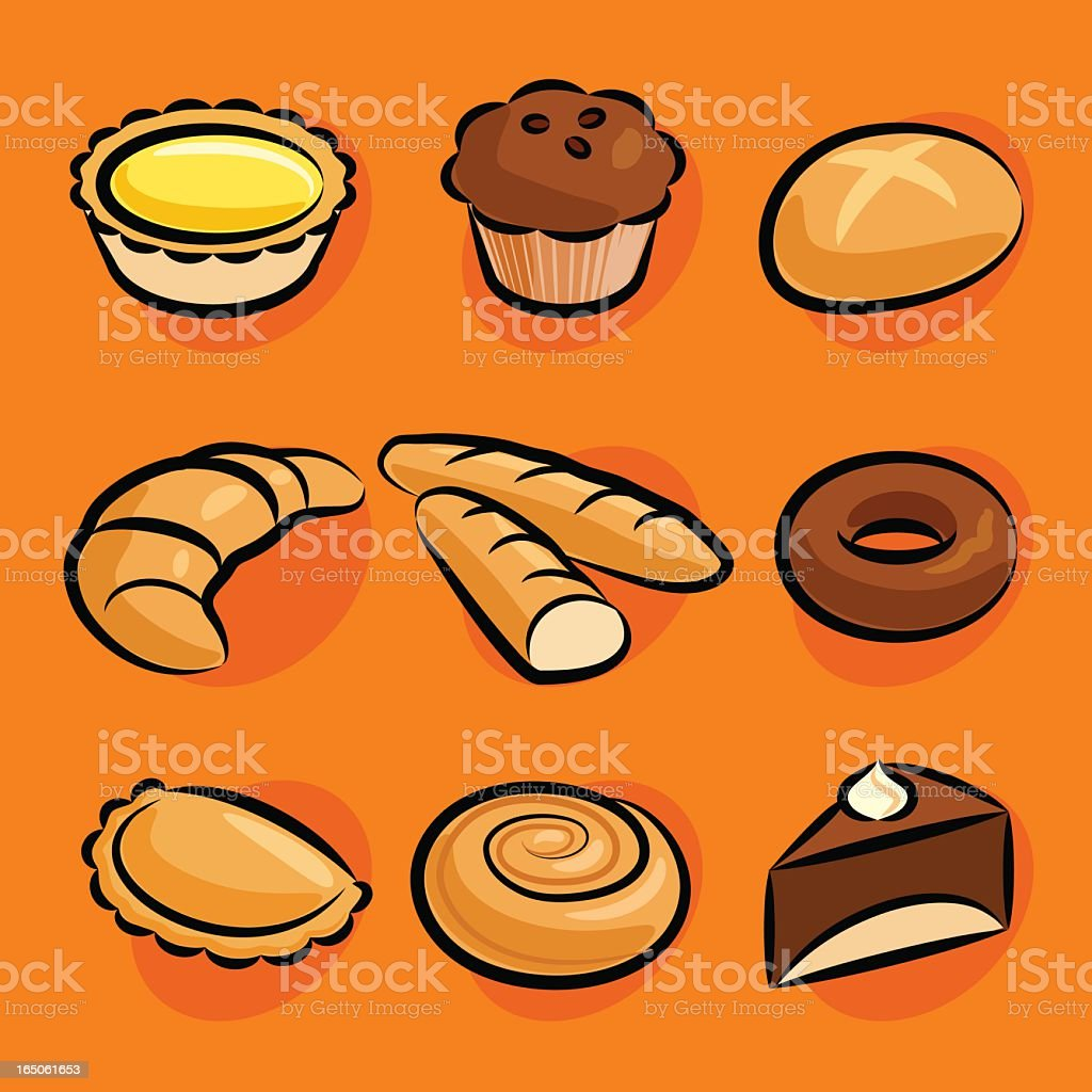 pastry royalty-free stock vector art