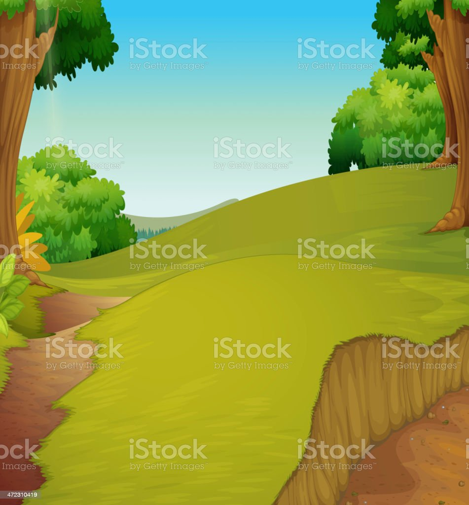 Pasture royalty-free stock vector art