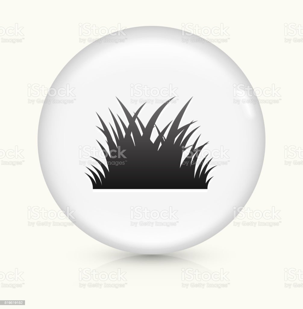 Patch of Grass icon on white round vector button vector art illustration