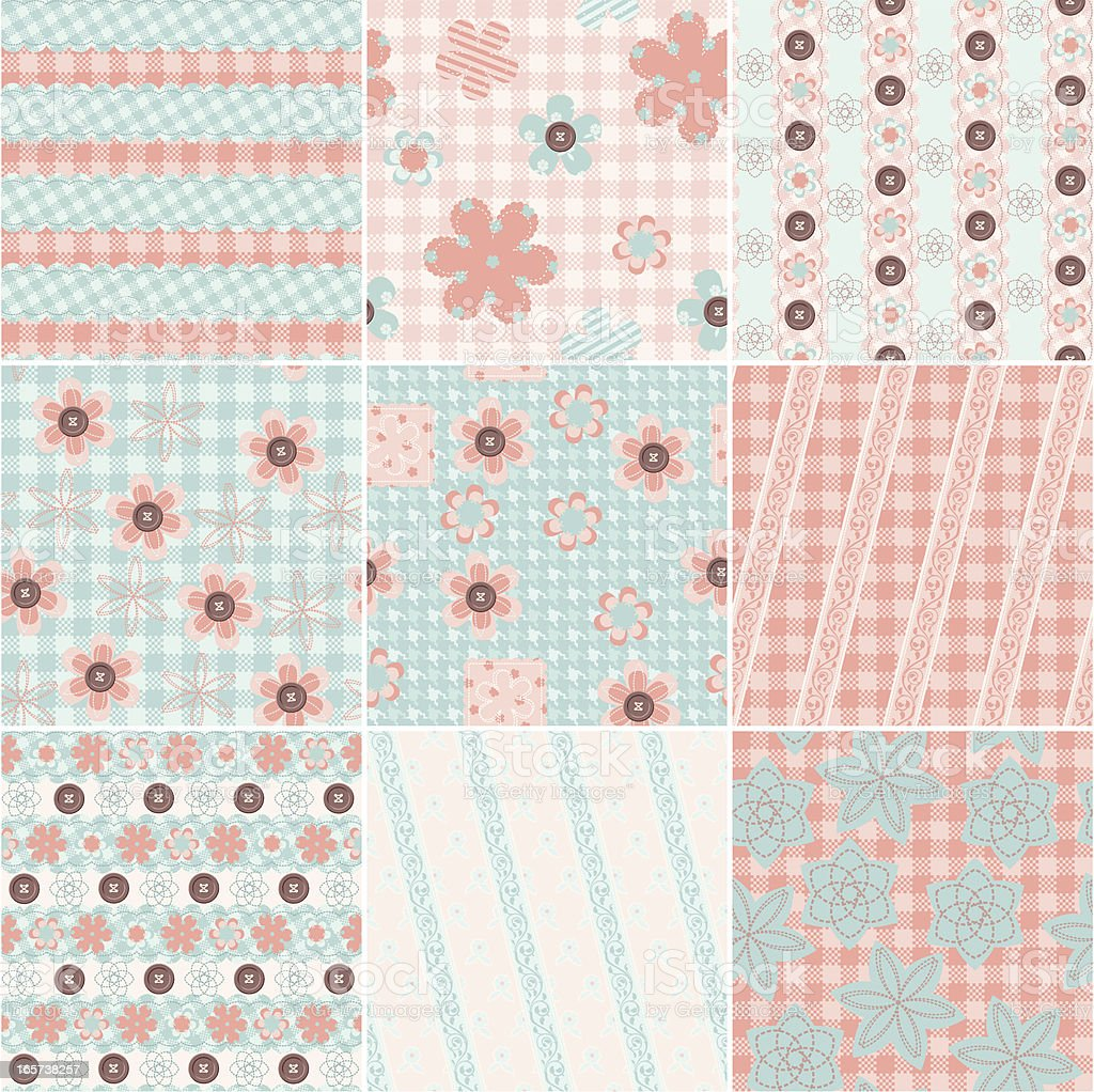 Patchwork wrapping paper royalty-free stock vector art