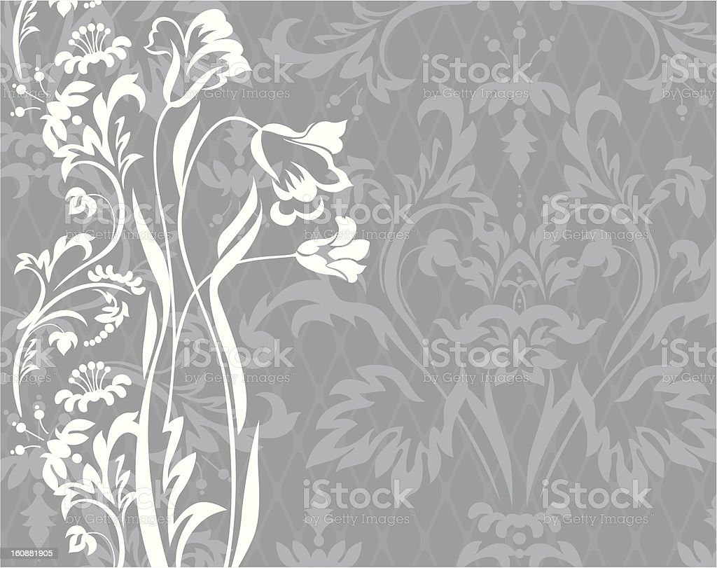 Patern with flower's silhouettes stock photo