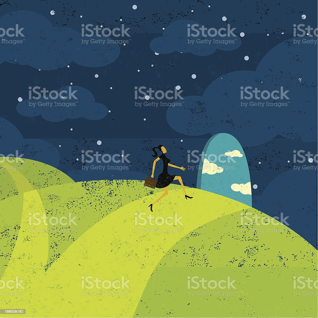 Path to new opportunities royalty-free stock vector art