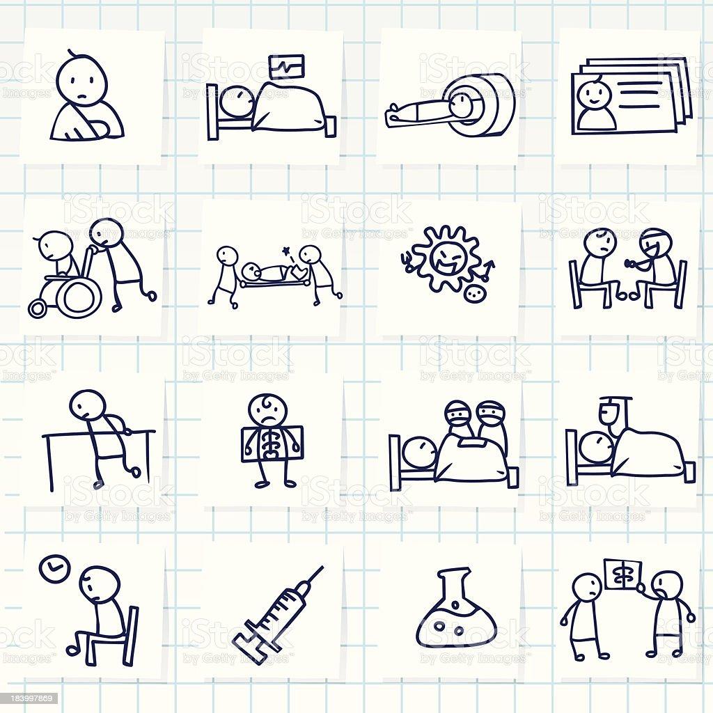 Patient Icon vector art illustration