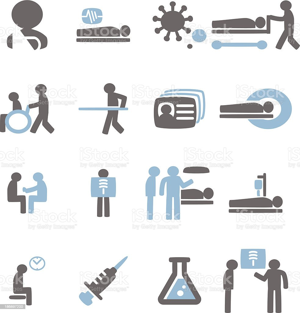 Patient Icon vector art illustration