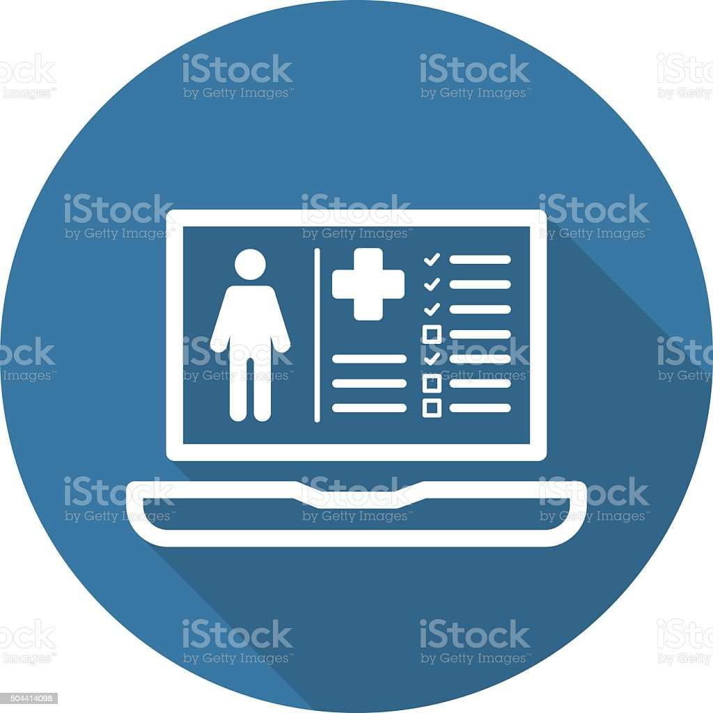 Patient Medical Record Icon. Flat Design. vector art illustration