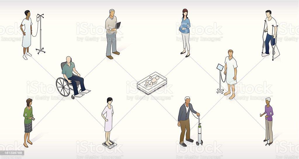Patient Network Illustration vector art illustration